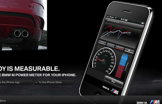 BMW M Power iPhone application