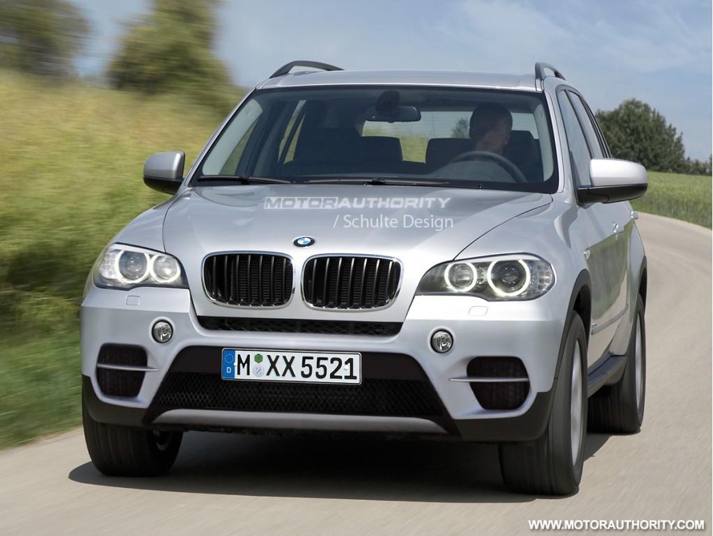 2011 BMW X5 facelift rendered