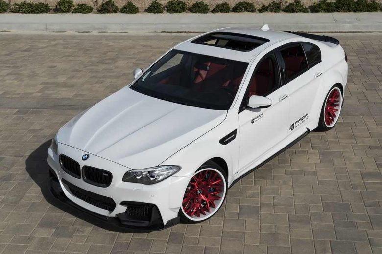 Prior Design Fits BMW M5 with Wide Aero Kit and Forgiato Wheels