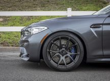 BMW M2 Coupe in Mineral Gray Sits on Vorsteiner Wheels