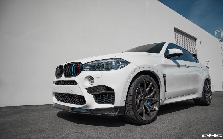 Alpine White BMW X6M with Aftermarket Parts, Installation by EAS
